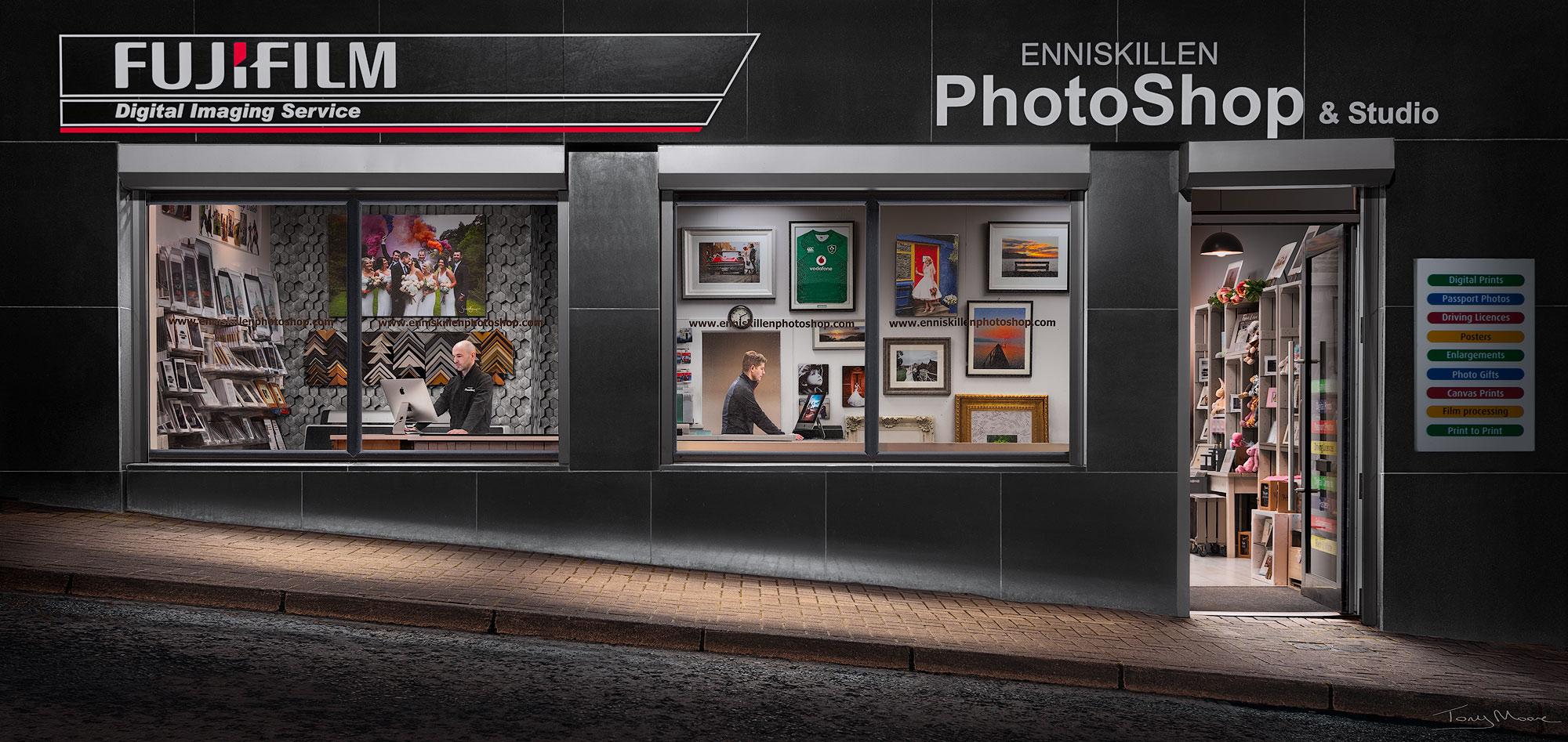 The Enniskillen PhotoShop Portrait by Tony Moore Photographer